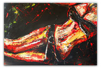 Wandbild, Malen, Acrylmalerei, Gelb