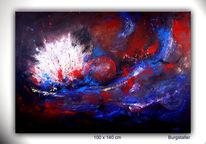 Urknall, Abstrakt, Universum, Gemälde