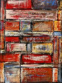 Zeitgenössisch, Handgemaltes acrylbild, Gemälde, Wandbild