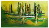 Grüne lunge, Malen, Acrylmalerei, Grün