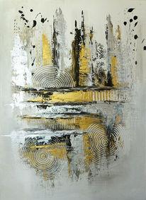 Malerei, Kreis, Acrylbild handgemalt, Acrylmalerei