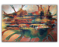 Malen, Abstrakte kunst, Gemälde, Braun