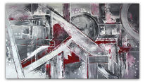 Grau, Wandbild, Modern, Acrylmalerei