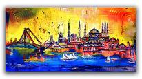 Stadt, Moderne malerei, Istanbul, Gemälde