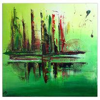 Grün, Acrylmalerei, Moderne malerei, Gemälde