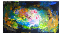 Originale gemälde, Abstrakte malerei, Wandbild, Malen