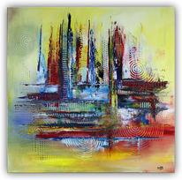 Acrylmalerei, Rot, Modern art, Modernes gemälde