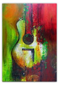 Moderne kunst malerei, Malerei, Gemälde, Gitarre