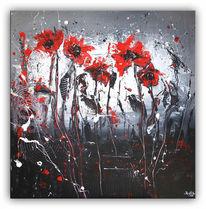 Malerei, Blumen, Gemälde, Abstrakt