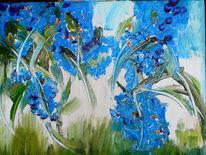Regen, Grün, Blau, Malerei