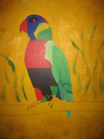 Malerei, Portrait, Tiere, Vogel
