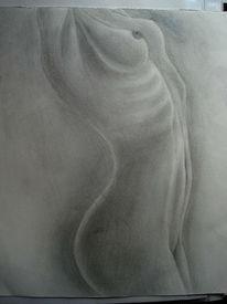 Menschen, Bleistiftzeichnung, Akt, Grau