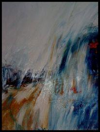 Ölmalerei, Landschaft, Sand, Mischtechnik