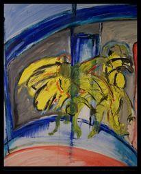 Malerei, Tänzer, Mischtechnik
