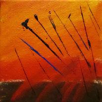 Abstrakt, Blau, Horizont, Richtung