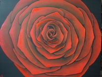 Rose, Blumen, Malerei, Pflanzen