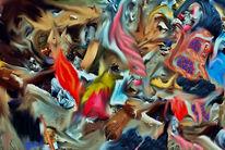 Gesellschaft, Konzept, Politik, Digitale kunst