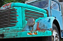 Retro, Gesellschaft, Auto, Blau