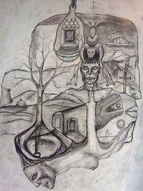 Zeichnung, Ausdruck, Symbolismus, Menschen