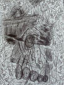 Zeichnung, Ausdruck, Befindlichkeit, Landschaft
