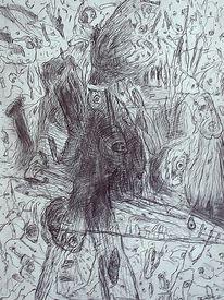 Landschaft, Befindlichkeit, Zeichnung, Ausdruck