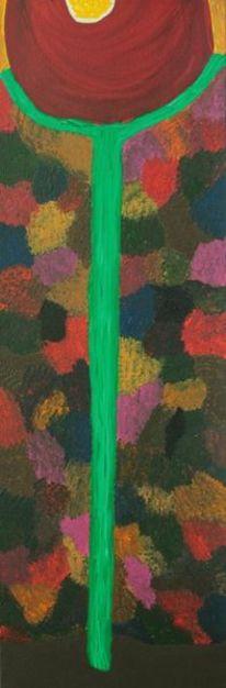 Acrylmalerei, Muster, Blumen, Rot