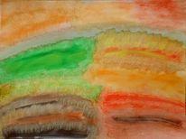 Fantasie, Aquarellmalerei, Farben, Abstrakt