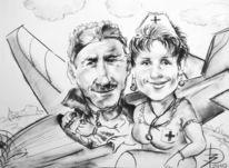 Karikatur, Zeichnung, Zeichnungen, Bestellung