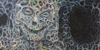 Tief, Augen, Acrylmalerei, Dämon