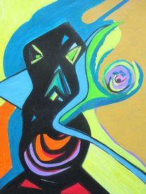 Figur, Bunt, Abstrakt, Malerei