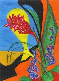 Abstrakt, Blätter, Frühling, Farben