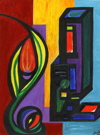 Symbol, Acrylmalerei, Experimente, Formen