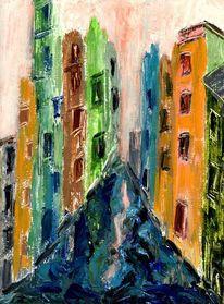 Fenster, Farben, Grün, Pinsel