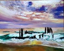 Sylt, Nordsee, Abendstimmung, Malerei