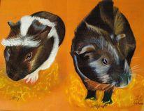 Meerschweinchen, Malerei
