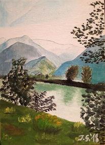 Etsch, Trentino, Etschtal, Malerei