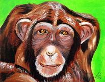 Schimpanse, Malerei