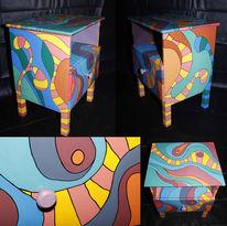 Lack, Verrückter hutmacher, Acrylmalerei, Farben