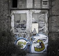 Fenster, Fabrikhalle, Tür, Mauer