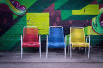 Graffiti, Mauer, Stuhl, Ruine