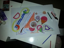 Abstrakt, Weiß, Malerei,