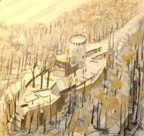 Winter, Burg, Ravensberg, Schatten