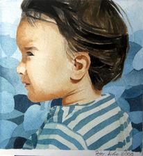 Baby, Kleinkind, Kinder, Aquarellmalerei