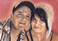 Malerei, Zeichnung, Pastellmalerei, Portraitzeichnung