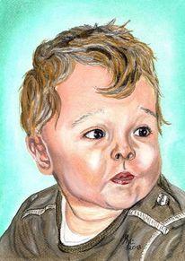 Malerei, Zeichnung, Portraitzeichnung, Portrait