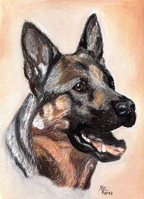 Portrait, Zeichnung, Pastellmalerei, Portraitzeichnung