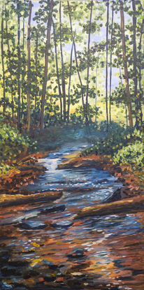 Impressionismus, Acrylmalerei, Ruhe, Landschaft