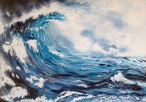 Bewegung, Acrylmalerei, Meer, Ozean
