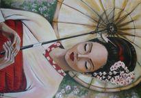 Malerei, Geisha