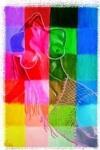 Frau, Die verführung, Akt, Farben